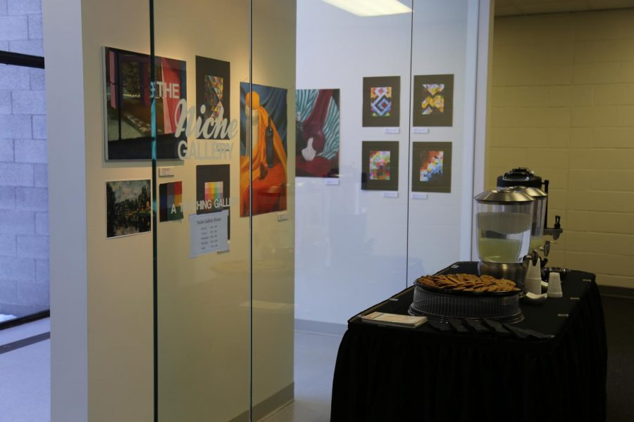 Opening night in front of The Niche art gallery at Century College.