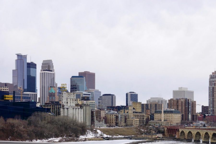 Minneapolis skyline 2019 winter