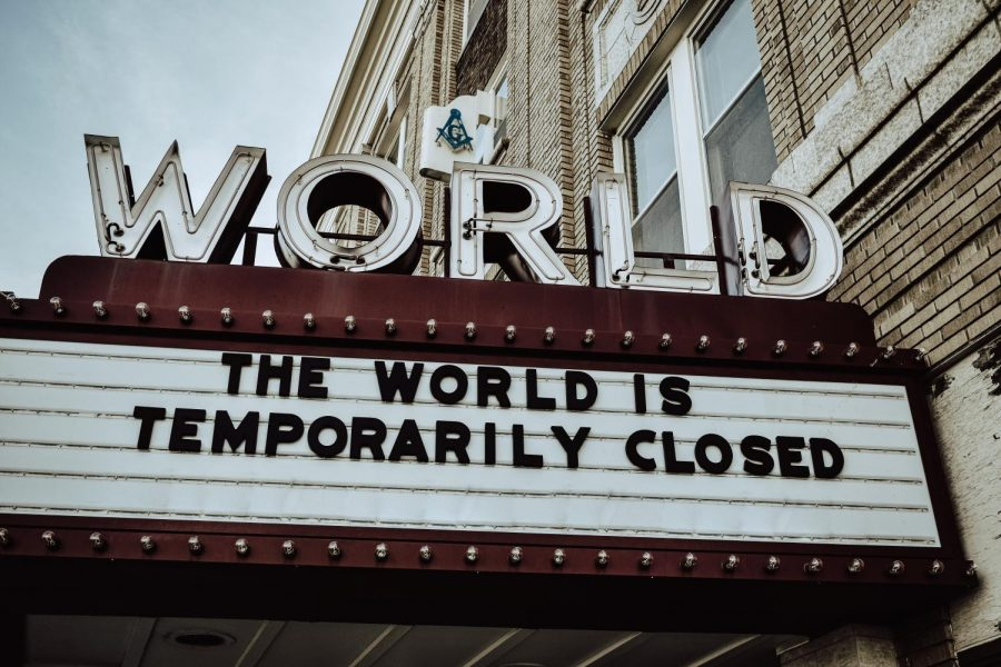 World+Theater+sign+reads+%22The+World+is+Temporarily+Closed%22