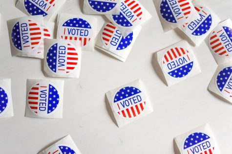 Vote stickers that are handed out at the polls.