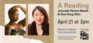 A virtual poetry reading April 2nd, at 2pm. Register at: http://bit.ly3sMuXtz before the event.