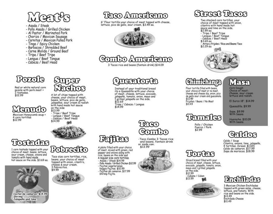 El Pariente' menu page 2. Alternative PDF format available use link in this article.